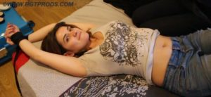 New model Angelique upperbody tickling
