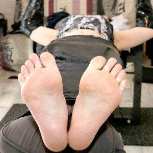 Anastasie gets a sadistic revenge on her deathly ticklish friend