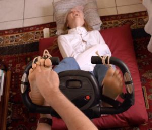 Crazy mary gets the feet up treatment