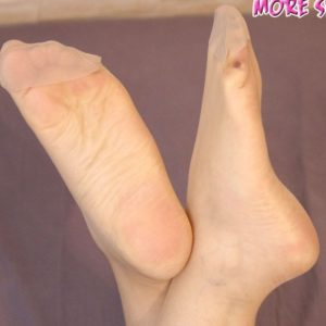 Anna's arousing feet are always more sensitive in stockings