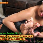 No Honor Among Ticklish Thieves! Pt 1: Mom vs Daughter!