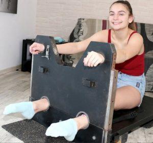 Lisabeth's Socks to Bare & Upperbody Punishments in the Stocks