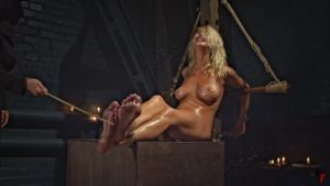 Fire torture and feet whipping for an unholy witch Darina