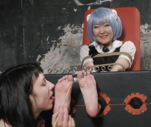 Kate Anima plays and tickles soles of her Japanese girlfriend Madoka.mp4
