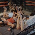 Three ticklers for poor Leya – Tonya, Vila and Fairy Fox