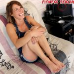Tickle Fun on the Sofa for the Fitness Teacher Helina