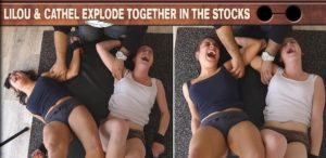 Lilou and Cathel Explode Together in the Stocks