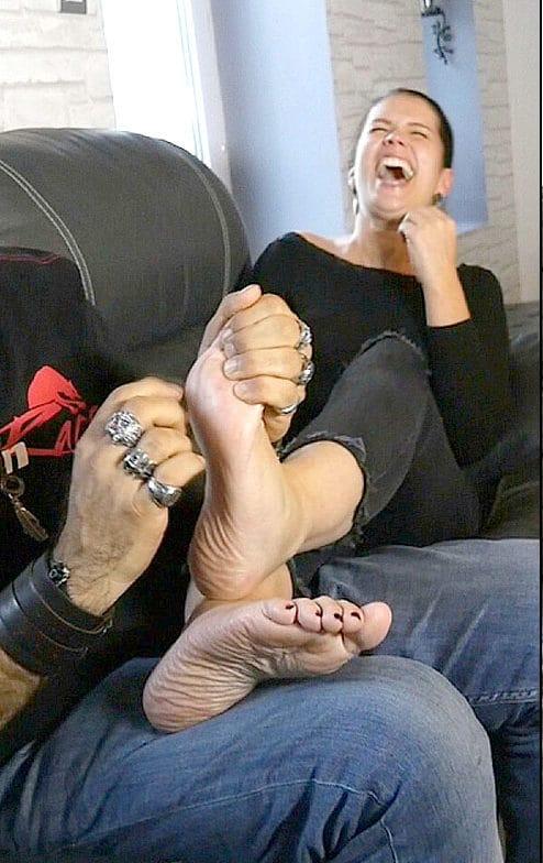 Anna's Feet Tickle Pleasures on the Sofa