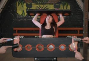 Kate Anima gets tickled in stocks with four hands