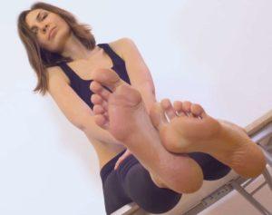 Maya's soft soles in focus