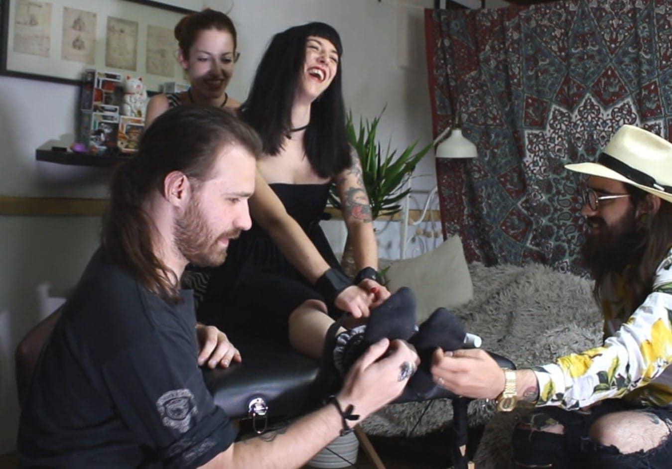 Anna Furiosa gang tickled
