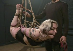 Long sensual bondage session with Milolica – Tight ropes, suspension and hogtie
