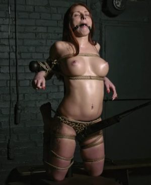 Sweet moans of tightly bound Adelia Mult with magic wand