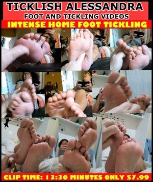 Ticklish Alessandra in Intense Home Foot Tickling