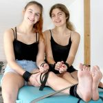 Barefoot tickle party with Diana & Lisabeth